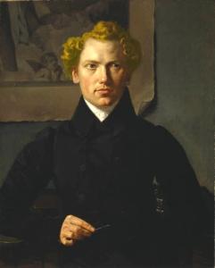 Ferdinand_Tellgmann_Porträt_eines_Kupferstechers_Öl_auf_Leinwand